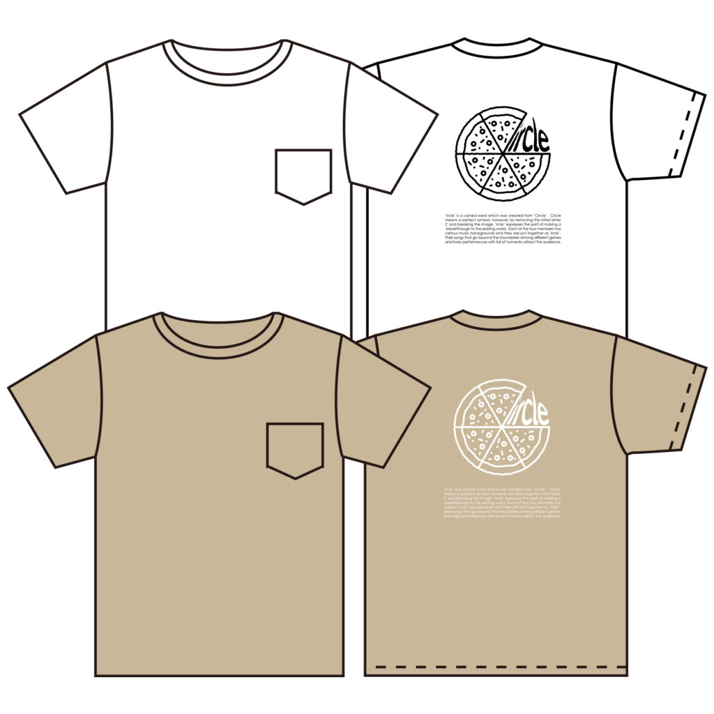 Back Print PIZZA Pocket Tシャツ